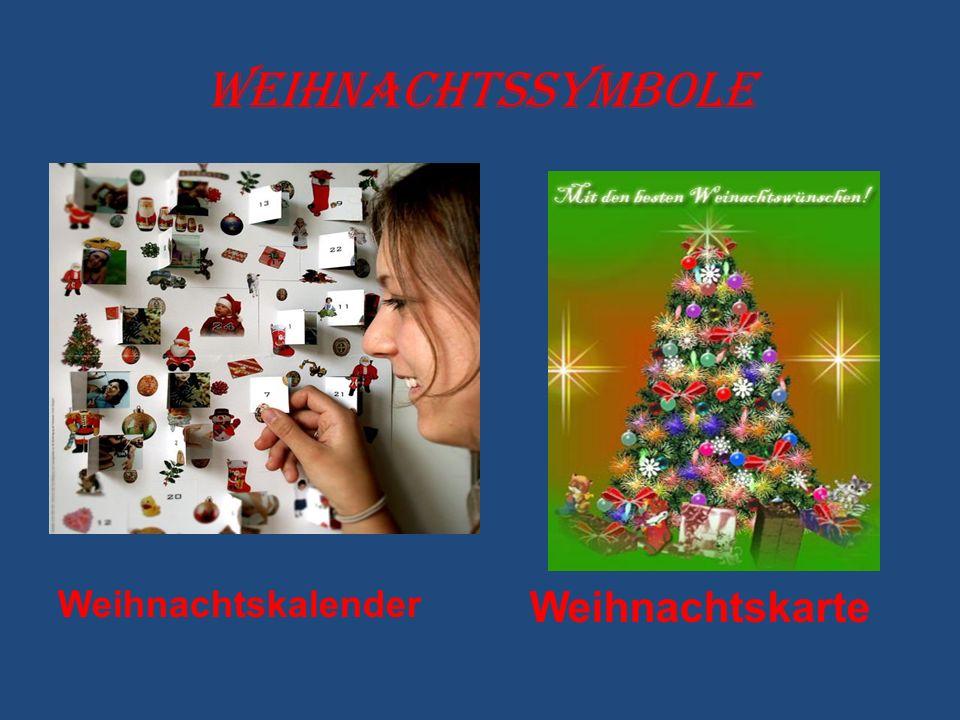 Weihnachtskalender Weihnachtskarte Weihnachtssymbole