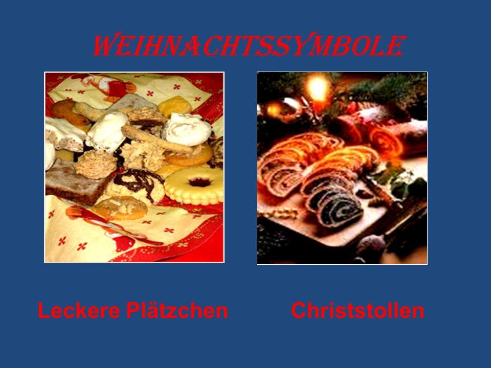 Weihnachtssymbole Leckere PlätzchenChriststollen