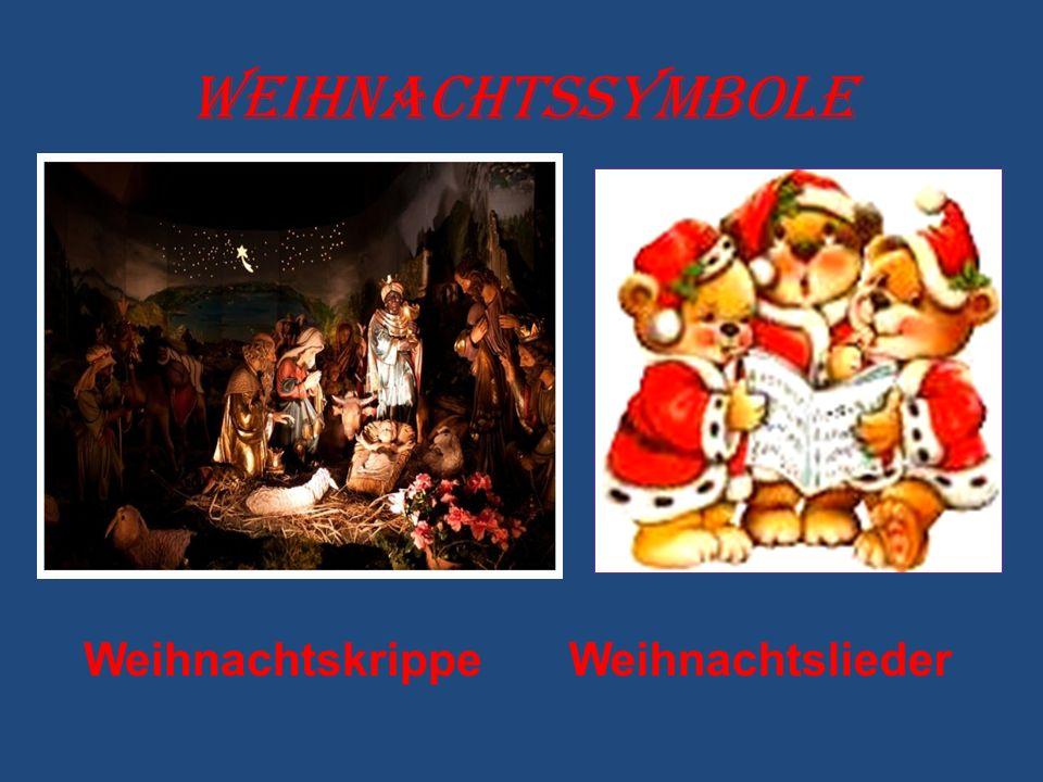 Weihnachtssymbole WeihnachtskrippeWeihnachtslieder