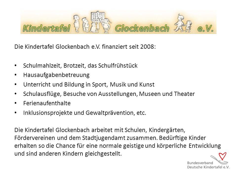 Die Kindertafel Glockenbach e.V. finanziert seit 2008: Schulmahlzeit, Brotzeit, das Schulfrühstück Hausaufgabenbetreuung Unterricht und Bildung in Spo