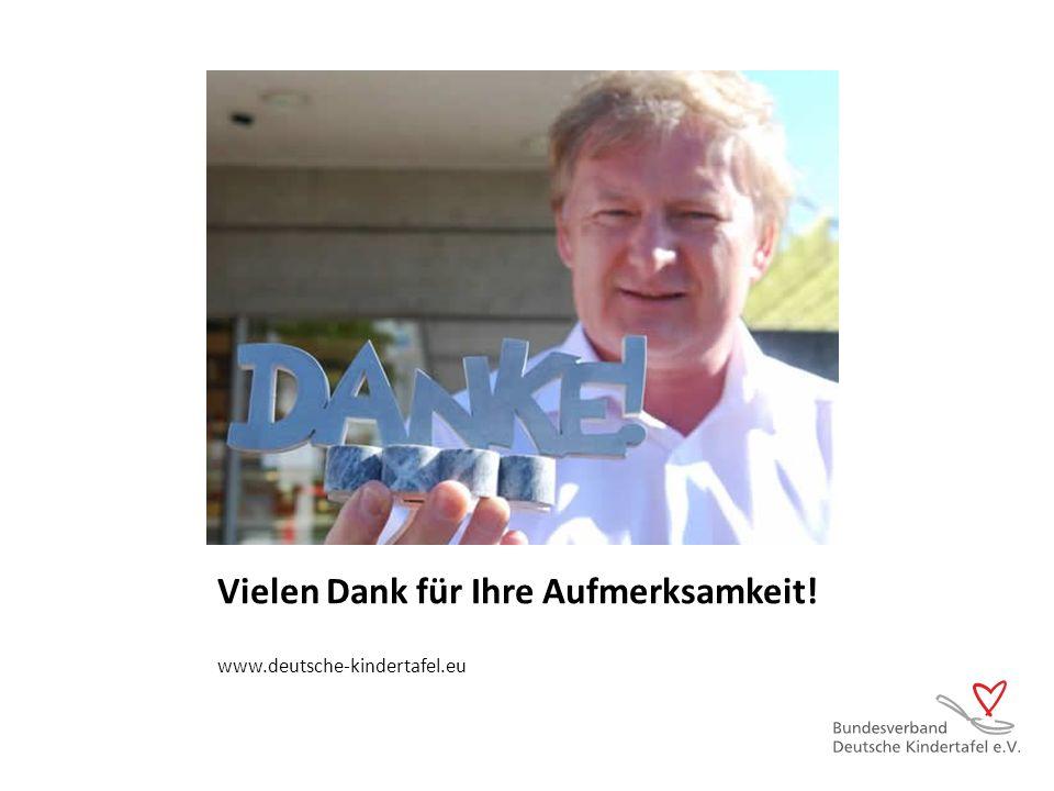 Vielen Dank für Ihre Aufmerksamkeit! www.deutsche-kindertafel.eu