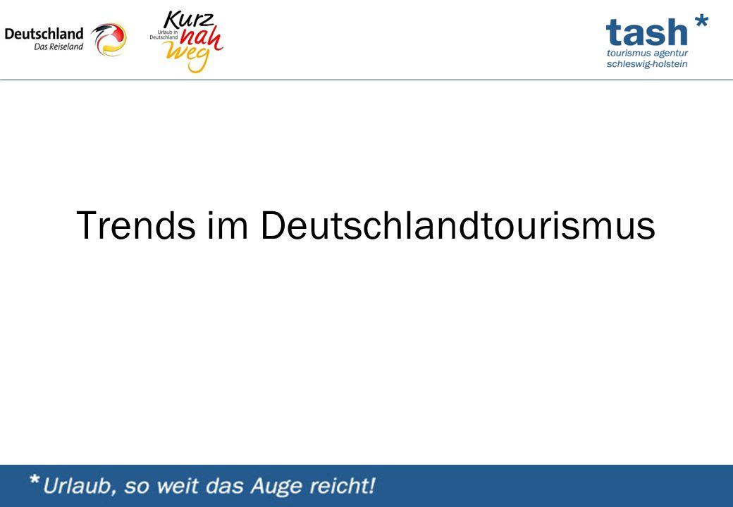 Trends im Deutschlandtourismus