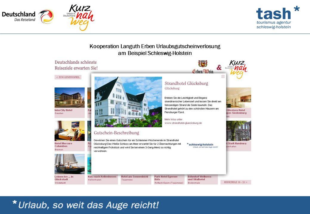 Kooperation Languth Erben Urlaubsgutscheinverlosung am Beispiel Schleswig-Holstein