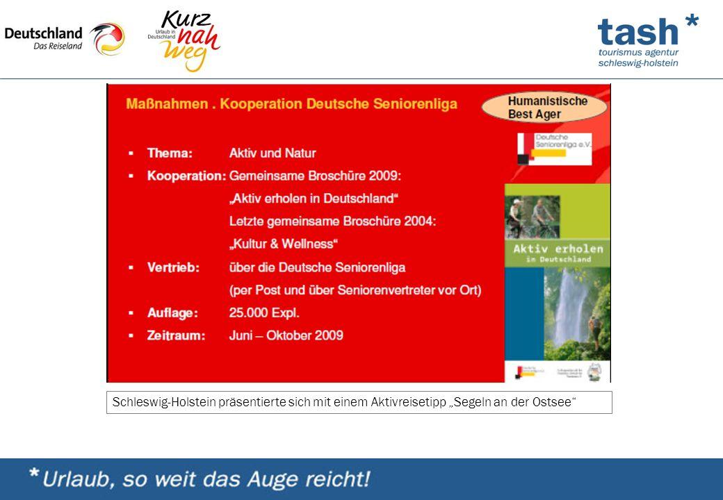 """Schleswig-Holstein präsentierte sich mit einem Aktivreisetipp """"Segeln an der Ostsee"""