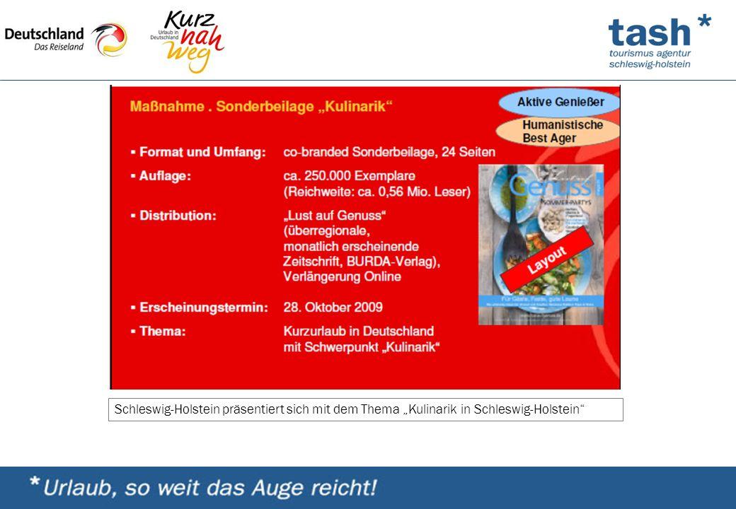 """Schleswig-Holstein präsentiert sich mit dem Thema """"Kulinarik in Schleswig-Holstein"""