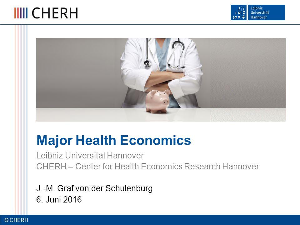 © CHERH 2012 12 © CHERH 12 Agenda  Relevanz des Majors Health Economics  Ziele & Voraussetzungen  Veranstaltungen und Inhalte des Majors