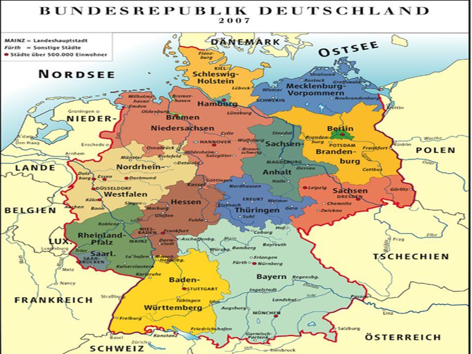 deutschland, Österreich und die schweiz. geographische lage der