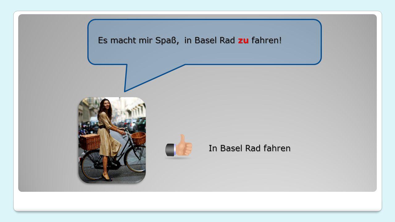 In Basel Rad fahren in Basel Rad zu fahren! Es macht mir Spaß,