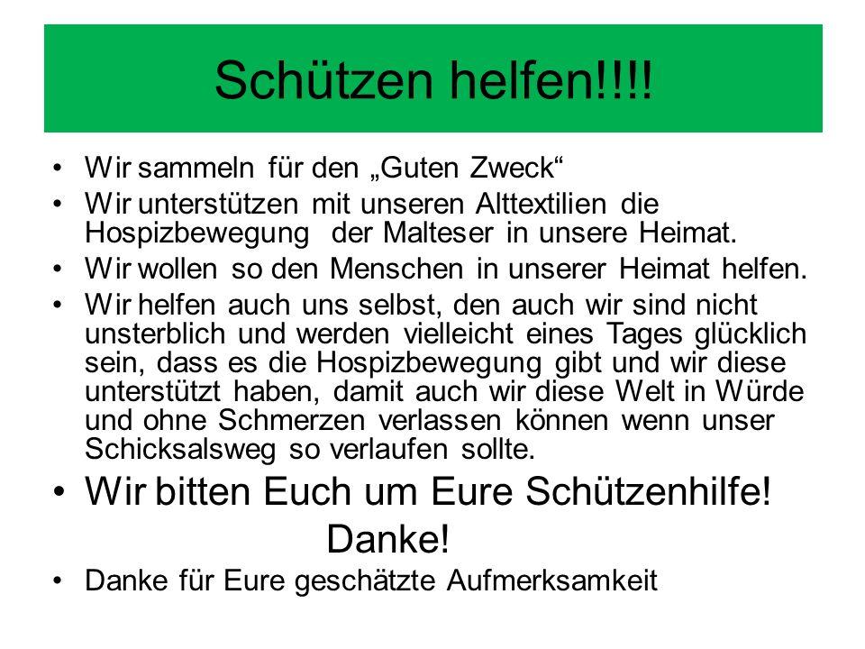 Schützen helfen!!!.