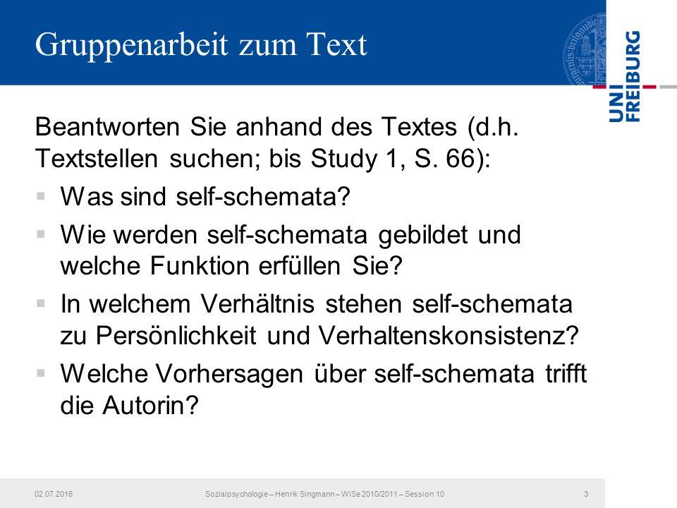 Beantworten Sie anhand des Textes (d.h. Textstellen suchen; bis Study 1, S.