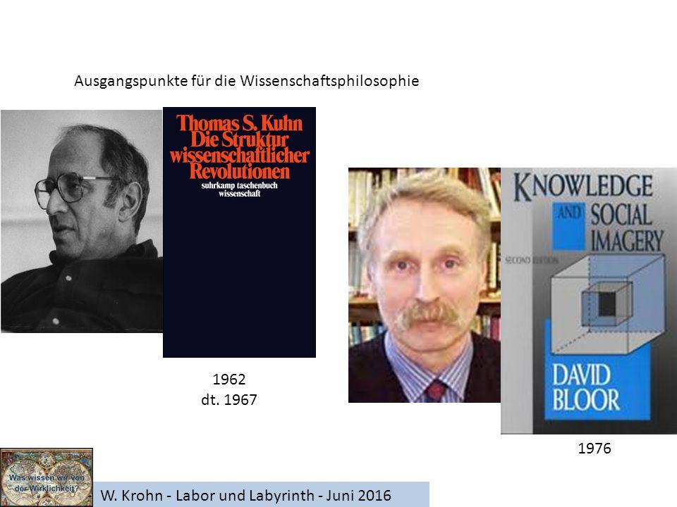 W. Krohn - Labor und Labyrinth - Juni 2016 Ausgangspunkte für die Wissenschaftsphilosophie 1962 dt.