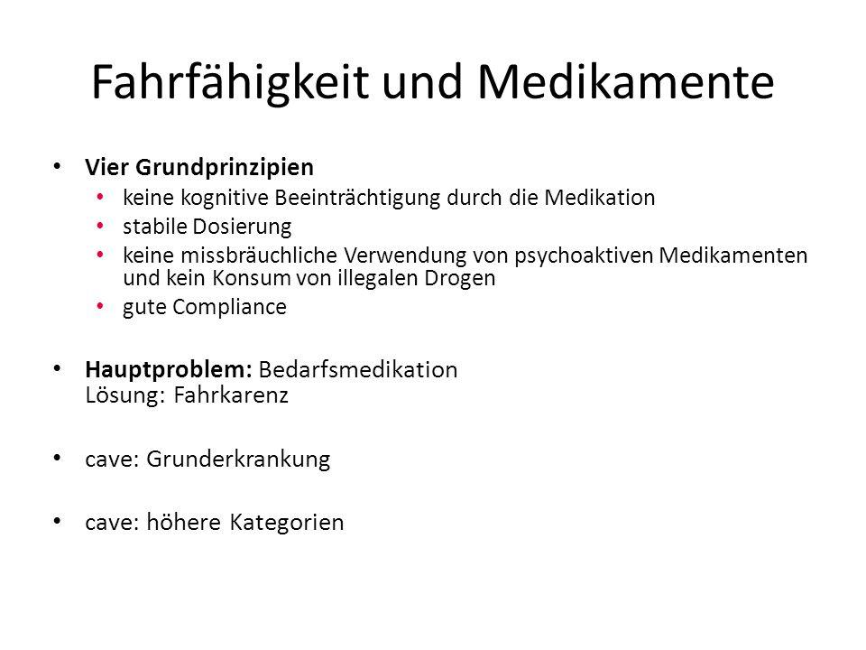 ADHD-Medikation und Fahren Grundsatz: Eine medikamentöse Therapie (z.B.