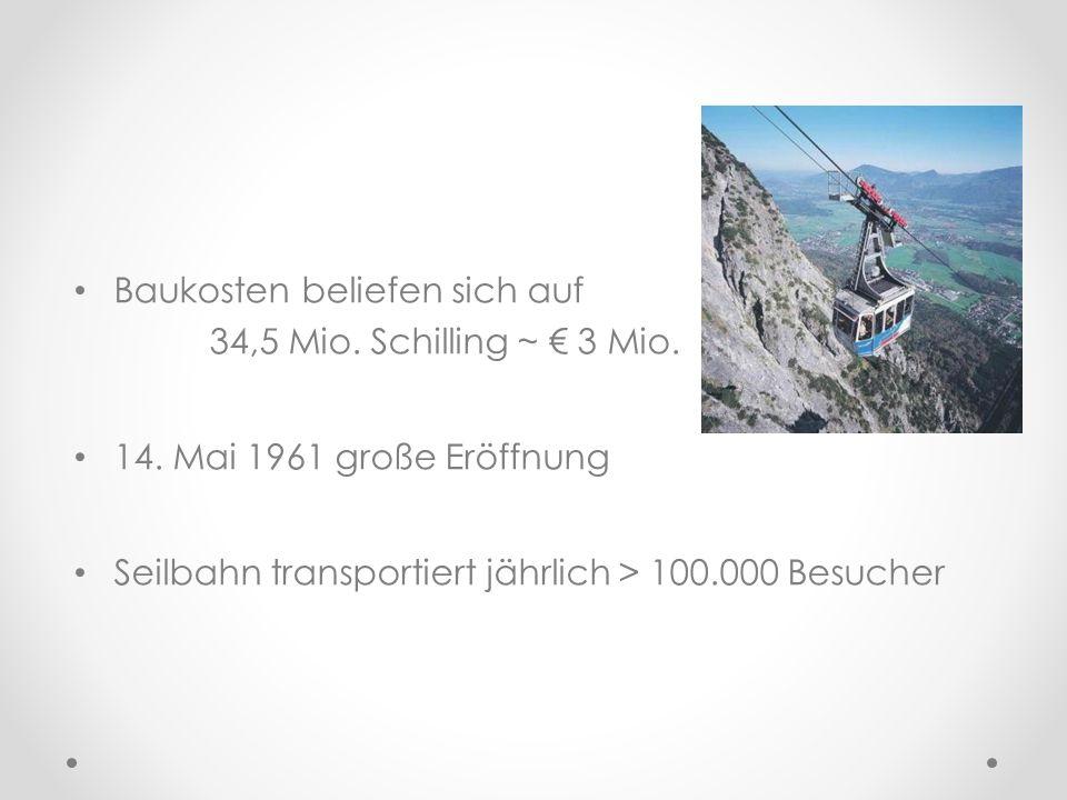 Baukosten beliefen sich auf 34,5 Mio. Schilling ~ € 3 Mio.
