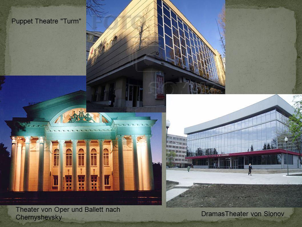 Puppet Theatre Turm Theater von Oper und Ballett nach Chernyshevsky DramasTheater von Slonov