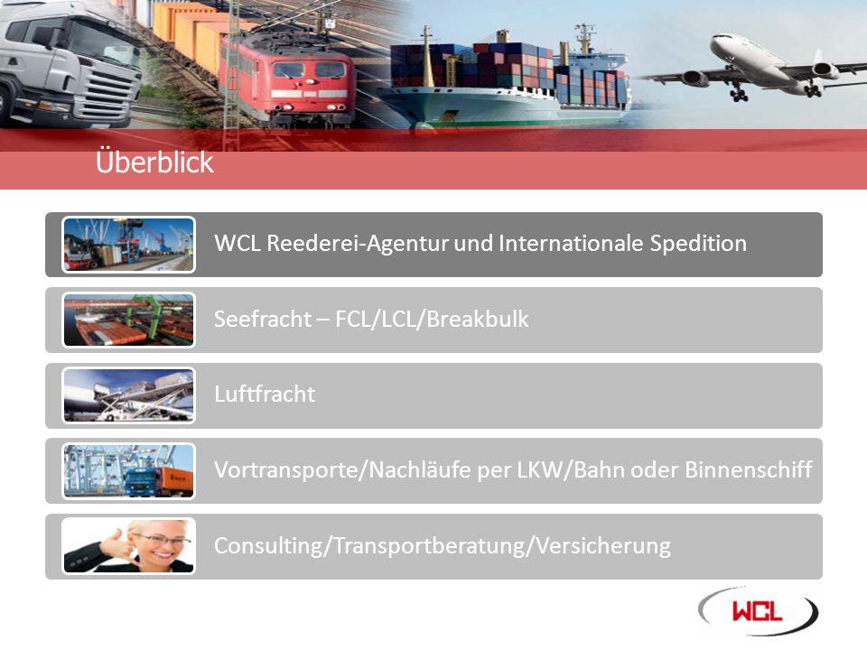 Unternehmensinformation WCL – Ihr zuverlässiger Partner für alle Seetransporte.