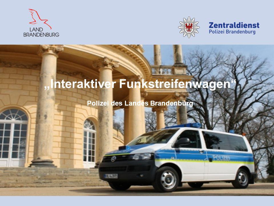 """""""Interaktiver Funkstreifenwagen Polizei des Landes Brandenburg"""