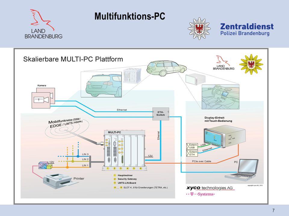 8 mobiler Arbeitsplatzrechner Multi-PC AuftragsmanagementVideo Navigation