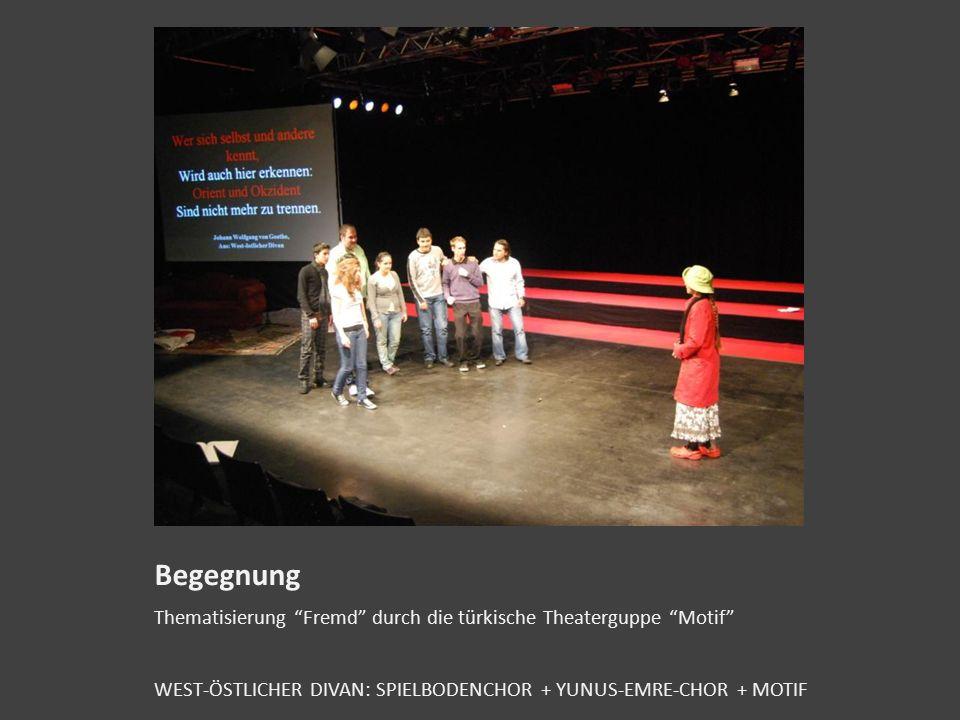 WEST-ÖSTLICHER DIVAN SPIELBODENCHOR + YUNUS-EMRE-CHOR + MOTIF Auszüge aus dem Mitschnitt der Live Aufführung am Spielboden 4 Minuten des 1,5 Stunden G