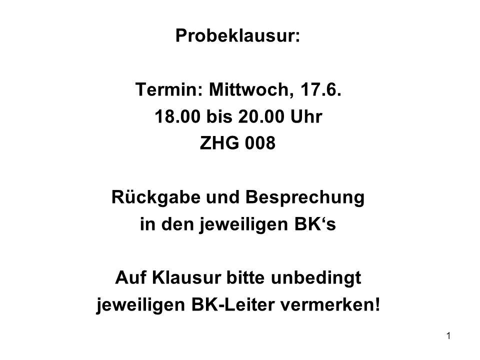 2 Lerneinheit 19 – 17.06.2009 Überblick A.Leistungsstörungen § 27 Verbrauchsgüterkauf 9.