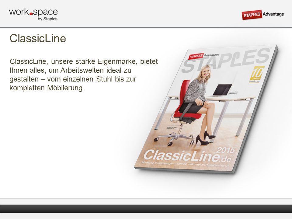 ClassicLine ClassicLine, unsere starke Eigenmarke, bietet Ihnen alles, um Arbeitswelten ideal zu gestalten – vom einzelnen Stuhl bis zur kompletten Möblierung.