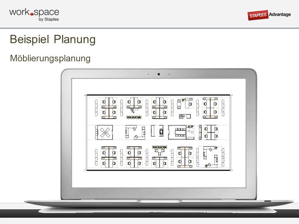 Möblierungsplanung Beispiel Planung