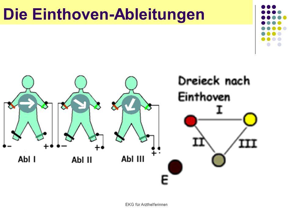 EKG für Arzthelferinnen Die Einthoven-Ableitungen