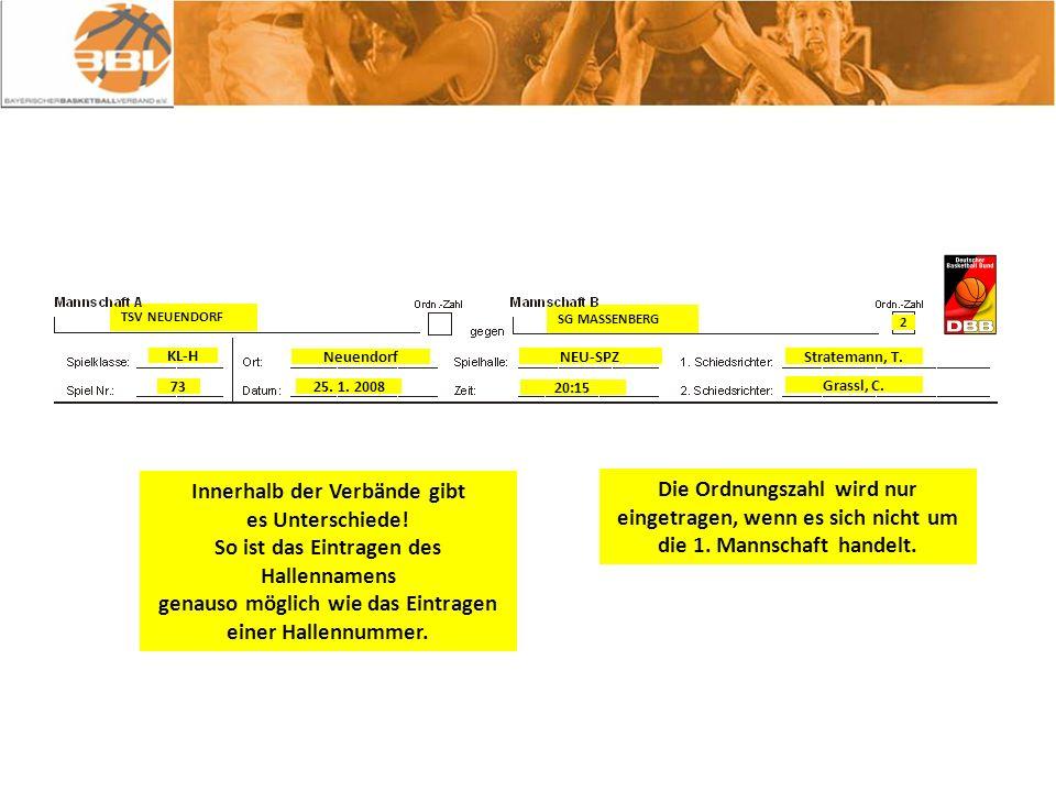 SG MASSENBERG TSV NEUENDORF Innerhalb der Verbände gibt es Unterschiede.
