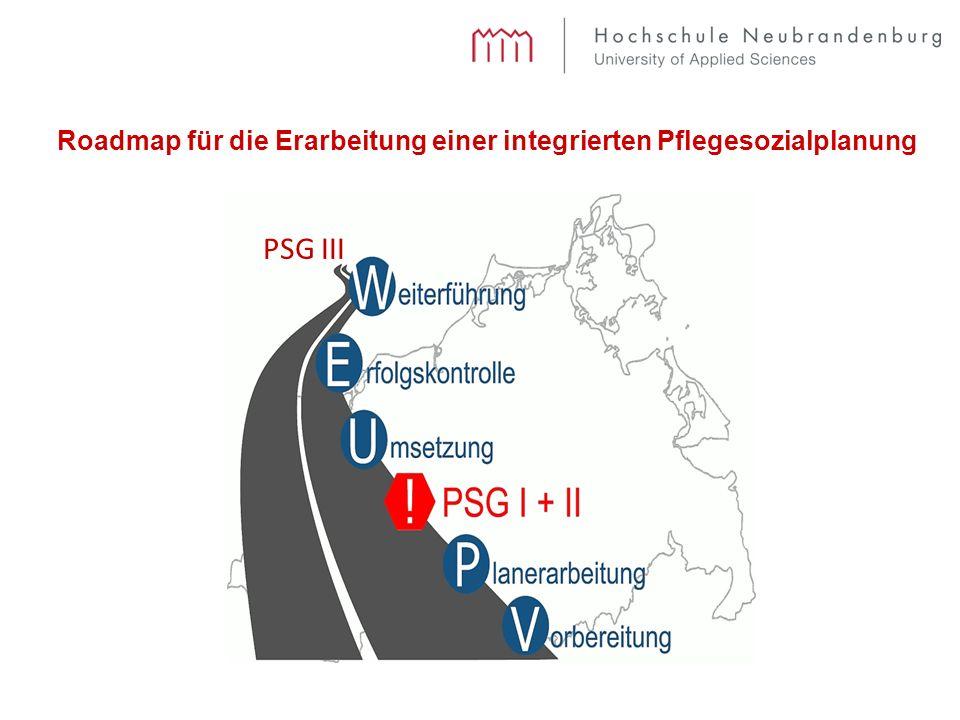 Roadmap für die Erarbeitung einer integrierten Pflegesozialplanung PSG III