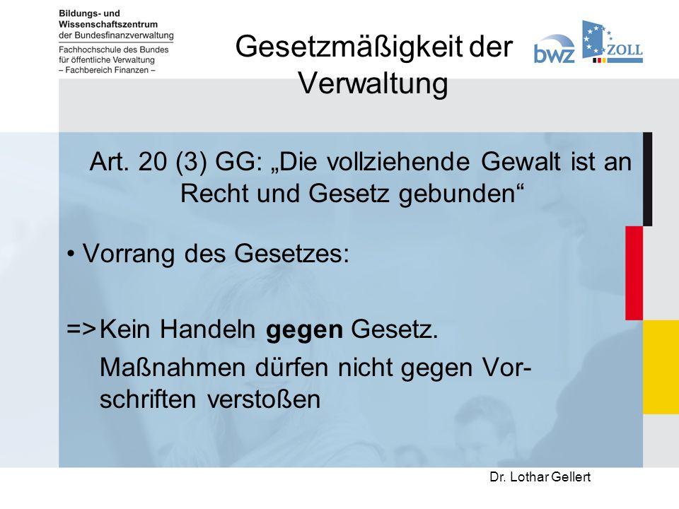 Gesetzmäßigkeit der Verwaltung Art.
