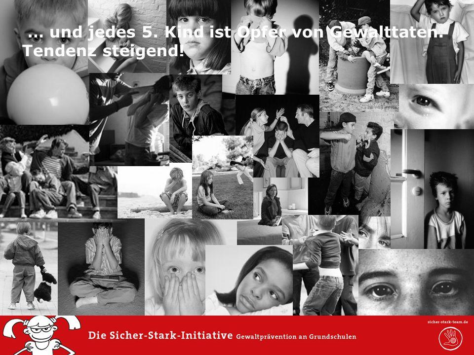0,0011,52 6,60 5,60 0,00 6,80 7,40 … und jedes 5. Kind ist Opfer von Gewalttaten. Tendenz steigend!