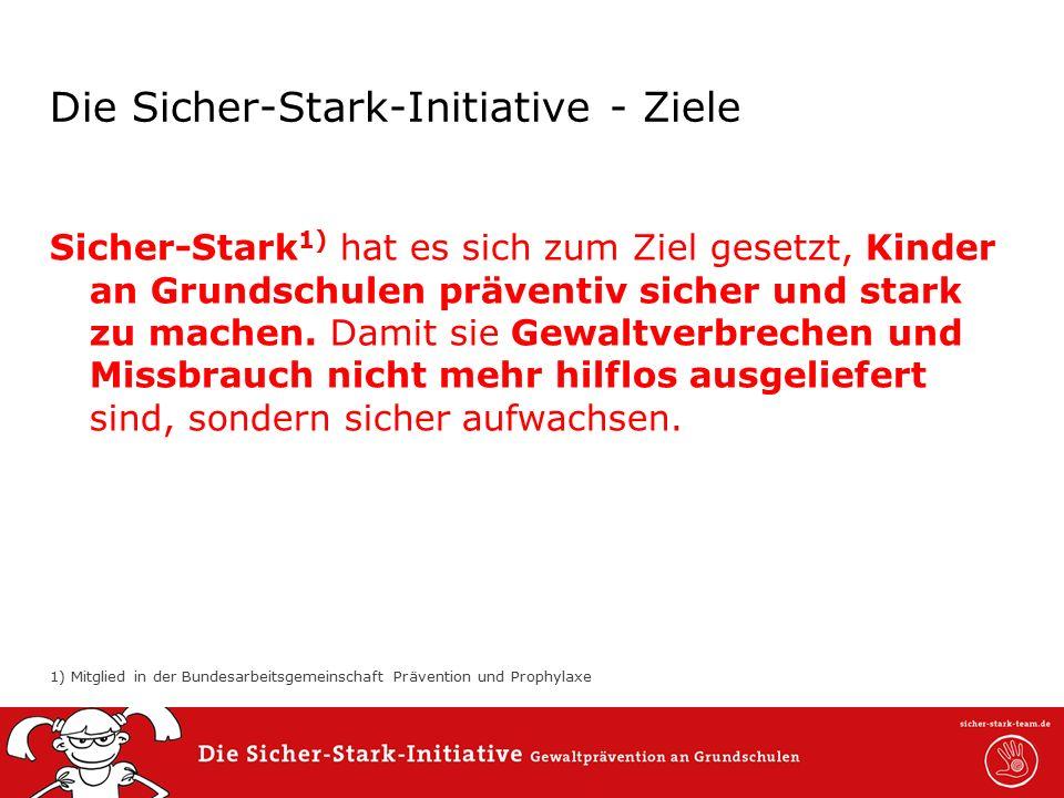 0,0011,52 6,60 5,60 0,00 6,80 7,40 Die Sicher-Stark-Initiative - Ziele Sicher-Stark 1) hat es sich zum Ziel gesetzt, Kinder an Grundschulen präventiv sicher und stark zu machen.