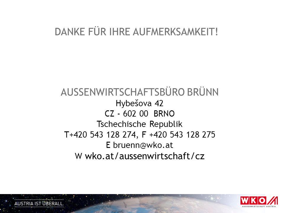 wko.at/aussenwirtschaft/cz (für österreichische Unternehmen) http://www.advantageaustria.org/cz/ (für tschechische Unternehmen) AUSSENWIRTSCHAFT IM INTERNET