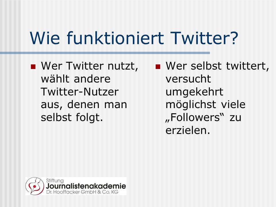 Wie funktioniert Twitter.
