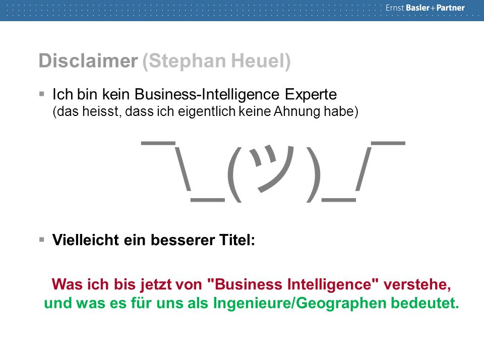 Was ist Business Intelligence.
