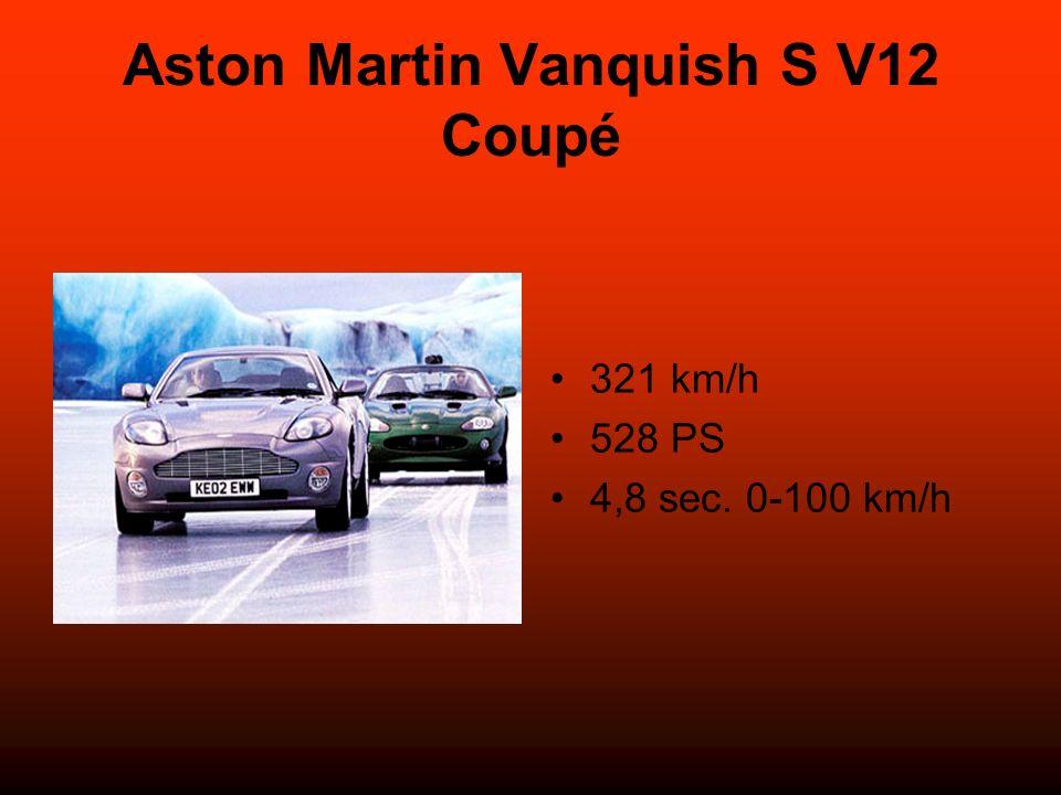 Aston Martin Vanquish S V12 Coupé 321 km/h 528 PS 4,8 sec. 0-100 km/h