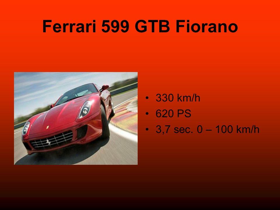 Ferrari 599 GTB Fiorano 330 km/h 620 PS 3,7 sec. 0 – 100 km/h