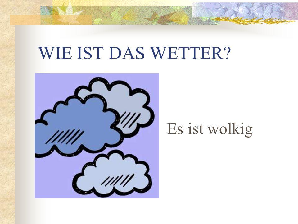 WIE IST DAS WETTER Es regnet