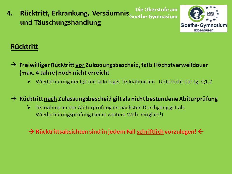 Die Oberstufe am Goethe-Gymnasium 4.