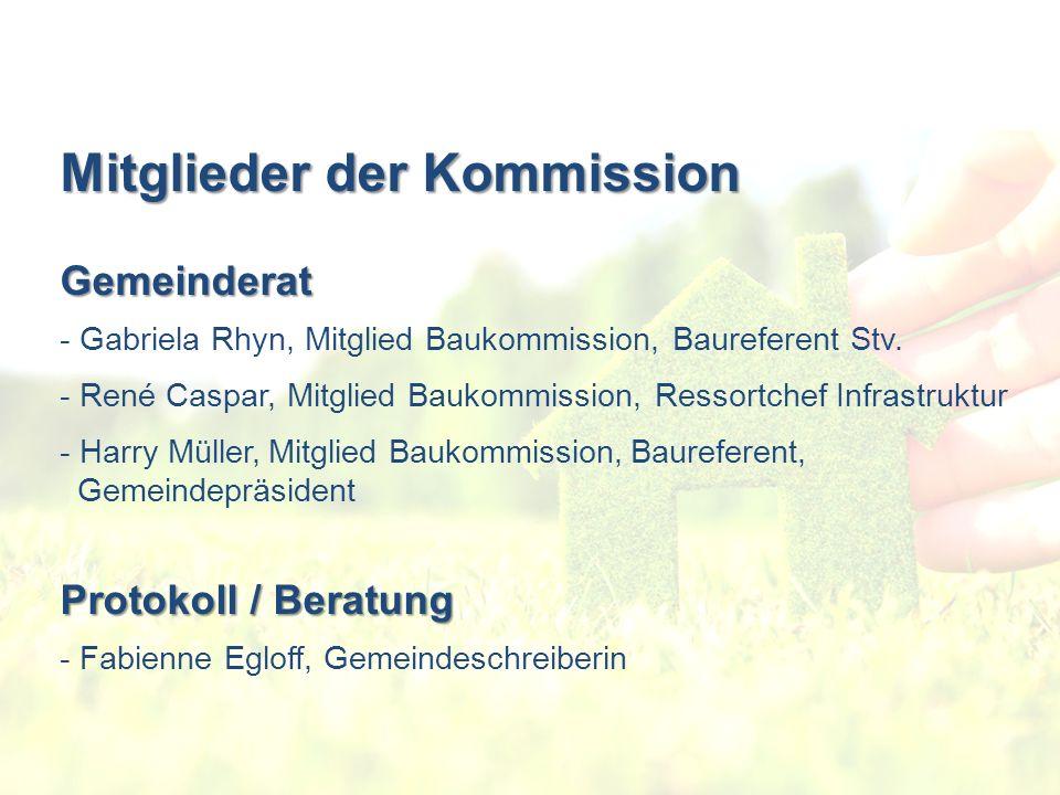 Mitglieder der Kommission Gemeinderat - Gabriela Rhyn, Mitglied Baukommission, Baureferent Stv.