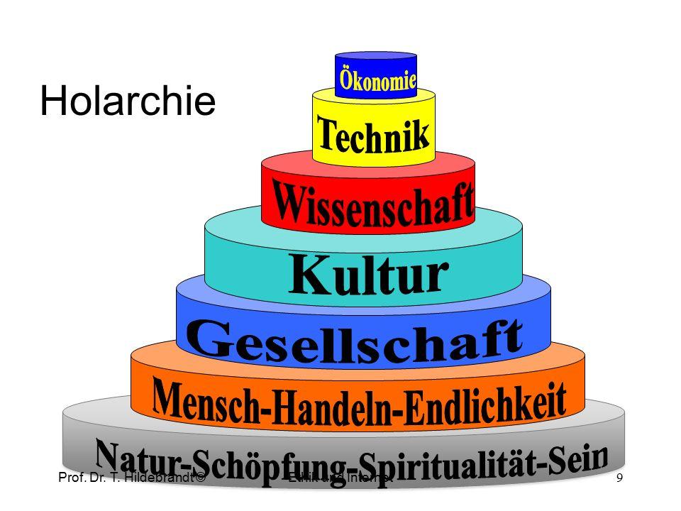 Beitrag der Gesellschaft zur Weltanschauung Recht Bildung Philosophie Kunst Prof. Dr. T. Hildebrandt © 8 Ethik und Internet