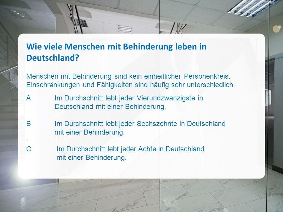 Wie viele Menschen mit Behinderung leben in Deutschland.