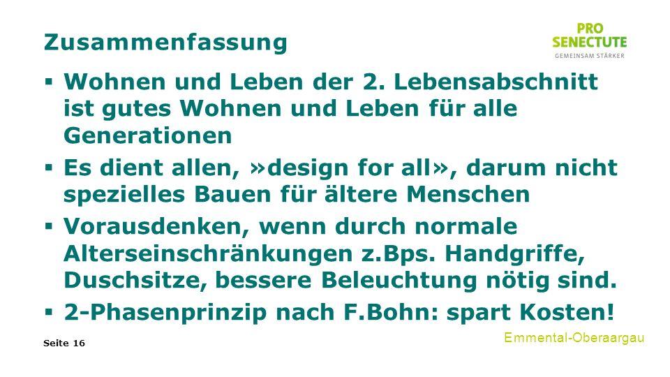 Zusammenfassung  Wohnen und Leben der 2.