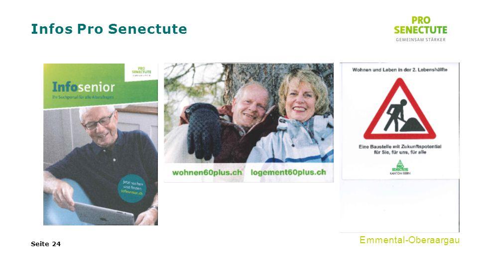Infos Pro Senectute Seite 24 Emmental-Oberaargau