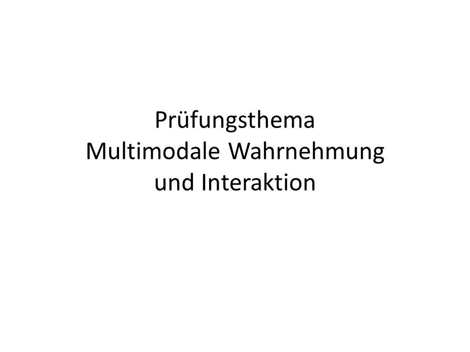 Prüfungsthema Multimodale Wahrnehmung und Interaktion