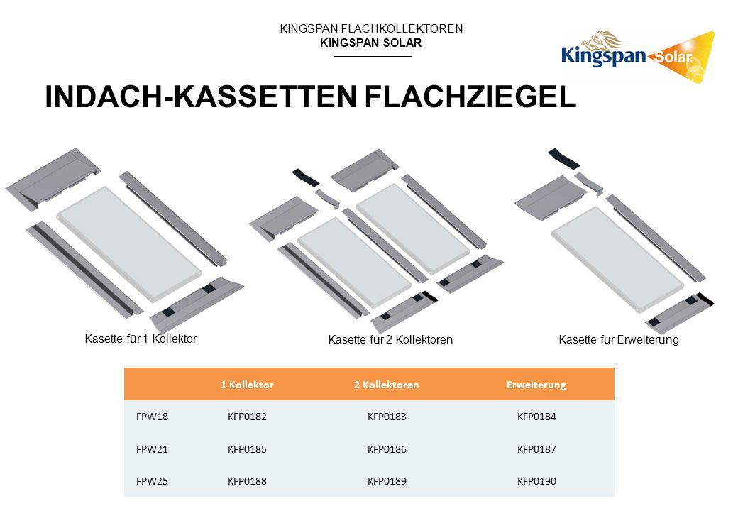 KINGSPAN FLACHKOLLEKTOREN KINGSPAN SOLAR 1 Kollektor2 KollektorenErweiterung FPW18KFP0182KFP0183KFP0184 FPW21KFP0185KFP0186KFP0187 FPW25KFP0188KFP0189KFP0190 INDACH-KASSETTEN FLACHZIEGEL Kasette für 1 Kollektor Kasette für 2 KollektorenKasette für Erweiterung