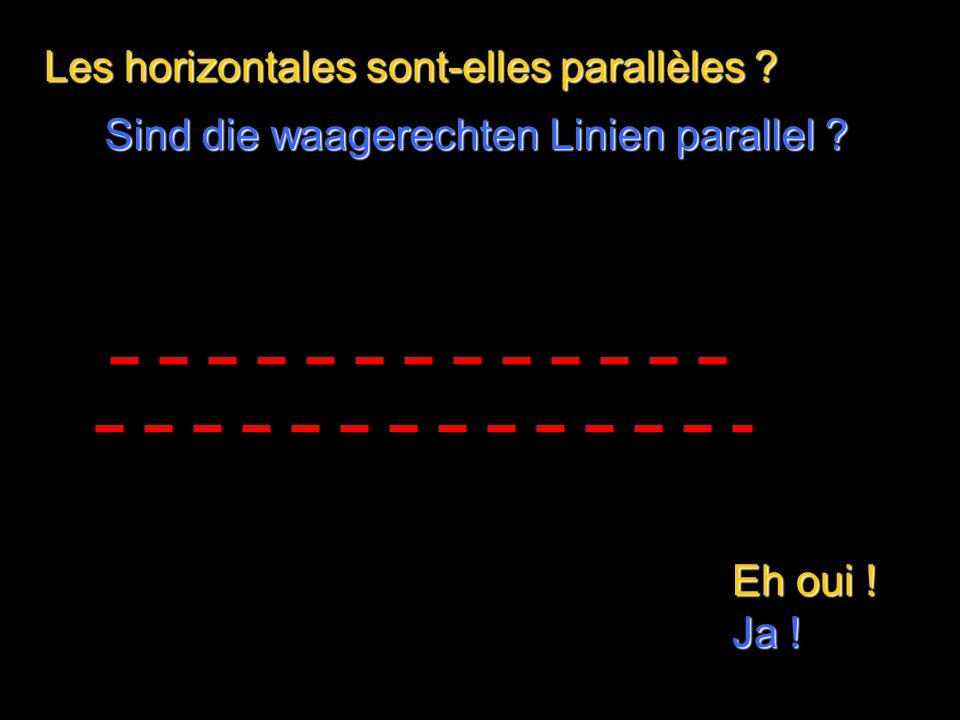 Les diagonales sont-elles parallèles Eh oui ! Ja ! Sind die Diagonalen parallel