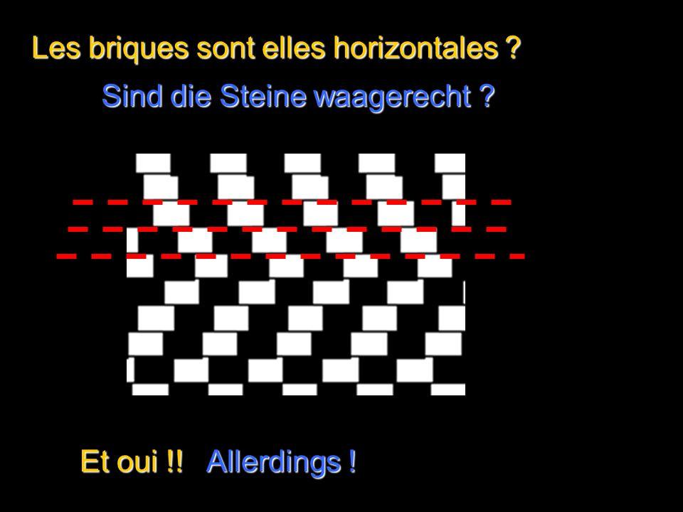 Les horizontales sont-elles parallèles Sind die waagerechten Linien parallel