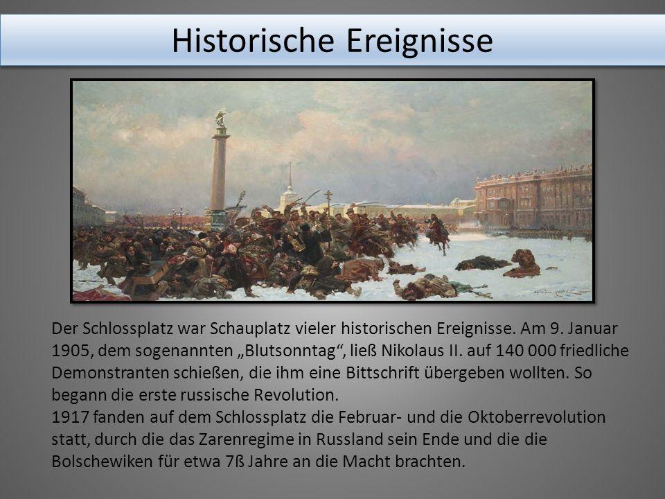 Der Schlossplatz war Schauplatz vieler historischen Ereignisse.