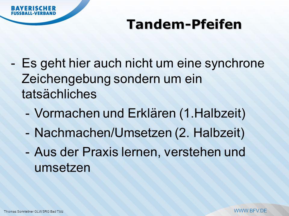 WWW.BFV.DE Thomas Sonnleitner GLW SRG Bad Tölz