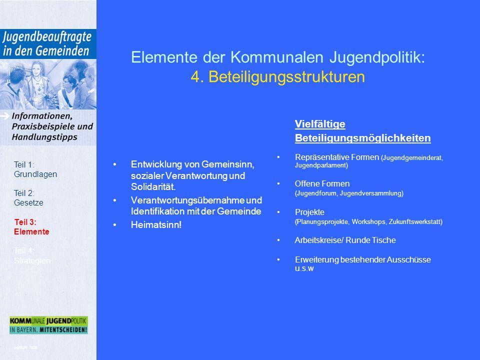 wp/BJR 2008 Elemente der Kommunalen Jugendpolitik: 4.